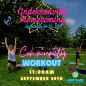 Andersonville Homecoming Community WOD!